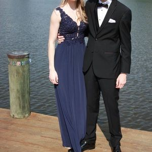 Sherri Hill Navy Blue Dress